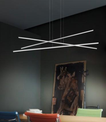 SUSPENSION LAMP WHIT THREE LED LIGHTS LINEA LIGHT STRAIGHT P3