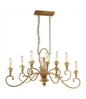 RUSTIC CHANDELIER IDEAL LUX CORTINA SP10