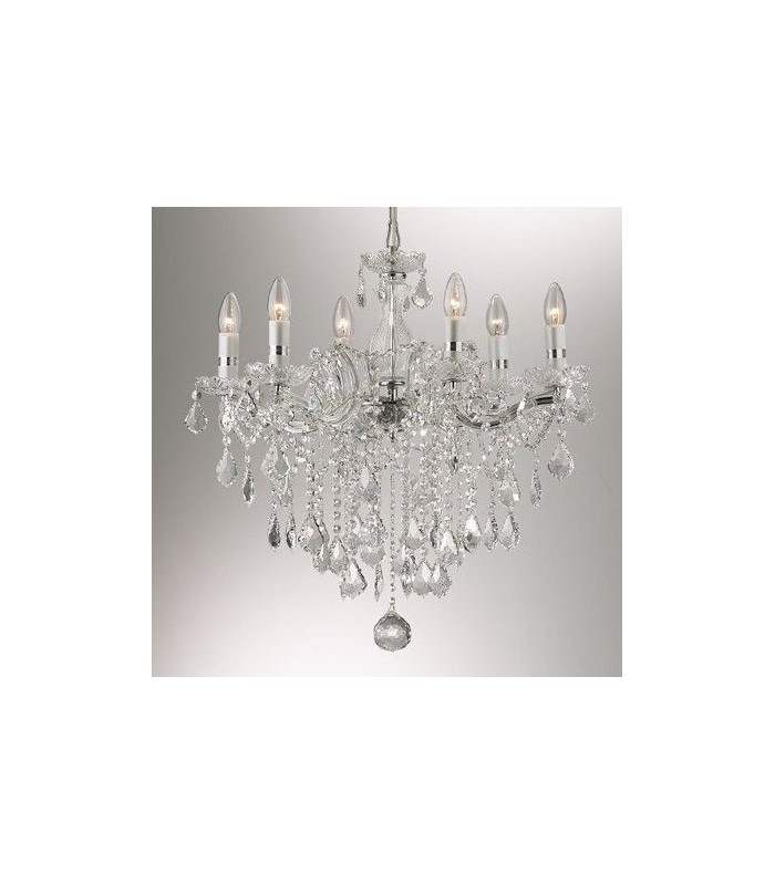 CLASSIC SUSPENSION CHANDELIER IDEAL LUX FLORIAN SP6 - SP12 - SP18